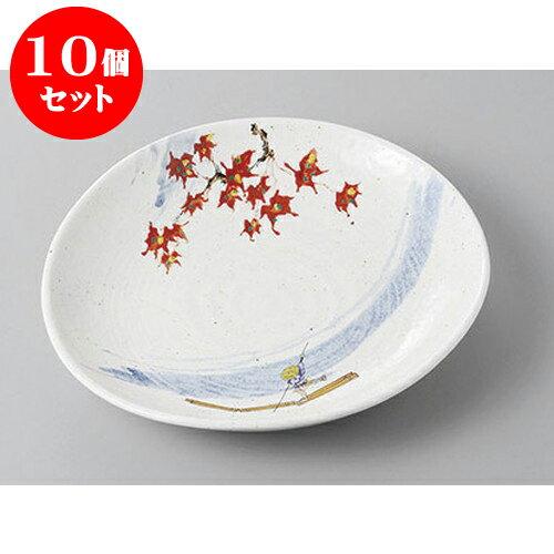 10個セット 丸盛皿 粉引嵐山楕円6.0皿 [19.5 x 18.3 x 3.5cm] 強化  | 盛り皿 盛皿 人気 おすすめ フルーツ皿 パーティー パスタ皿 食器 業務用 飲食店 カフェ うつわ 器 ギフト プレゼント 引き出物 誕生日 贈り物 贈答品 おしゃれ かわいい:せともの本舗