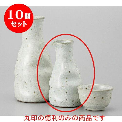 10個セット 徳利 粉引青磁瓶形小徳利 [6.8 x 12cm 180cc] 土物 料亭 旅館 和食器 飲食店 業務用