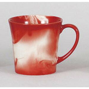 マグカップマーブル(赤)マグカップ[11.5x8.5x8.7cm280cc]料亭旅館和食器飲食店業務用