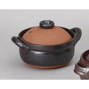 5個セット土鍋黒暖5号炊鍋[17.5x14x10.5cm]【土物直火料亭旅館和食器飲食店業務用】