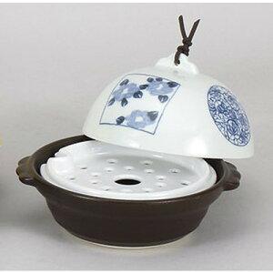 10個セット蒸し鍋染付ドーム型鍋・蒸し器(目皿付)[18x16x13cm]直火料亭旅館和食器飲食店業務用
