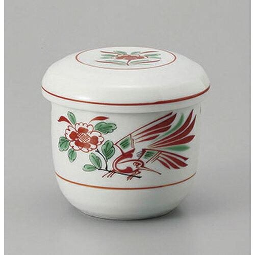 3個セット むし碗 赤絵花鳥むし碗 [7.7 x 8cm 200cc]    茶碗蒸し ちゃわんむし 蒸し器 寿司屋 碗 人気 おすすめ 食器 業務用 飲食店 おしゃれ かわいい ギフト プレゼント 引き出物 誕生日 贈り物 贈答品