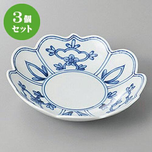 3個セット☆ 和皿 ☆間取花ユズ桔梗型5.0皿 [ 15.5 x 4cm ]