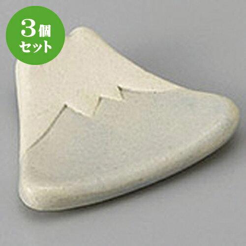 3個セット☆ 箸置き ☆ふじ山箸置 雪 [ 4.8 x 4.2 x 1.0cm ]