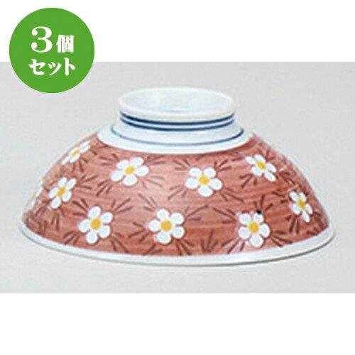 3個セット☆ 茶碗 ☆早春 赤中平 [ 12 x 5cm ]