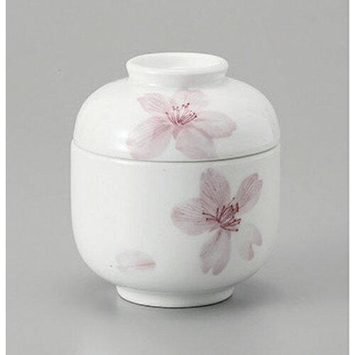 3個セット むし碗 桜写しむし碗 [7.2 x 8.3cm]    茶碗蒸し ちゃわんむし 蒸し器 寿司屋 碗 人気 おすすめ 食器 業務用 飲食店 おしゃれ かわいい ギフト プレゼント 引き出物 誕生日 贈り物 贈答品