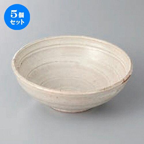 5個セット ☆ 向付 ☆白釉5.0丸鉢 [ 15.3 x 5.6cm ] 【 料亭 旅館 和食器 飲食店 業務用 】