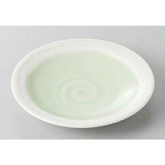 供衆人盤子嫩葉4.0平盤子[12.8 x 2cm]酒家旅館日式餐具飲食店業務使用