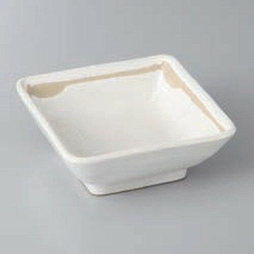 ☆ 組小鉢 ☆粉引ライン角小鉢(小) [ 8.8 x 8.8 x 3.5cm ]
