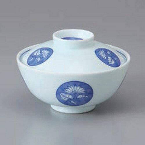 10個セット ☆ 円菓子碗 ☆丸紋蓋付茶碗 [ 11 x 7.5cm ]