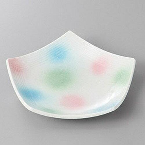 5個セット☆ 和皿 ☆淡雪三色吹五角皿 小 [ 15.8 x 14.8 x 3.5cm ]