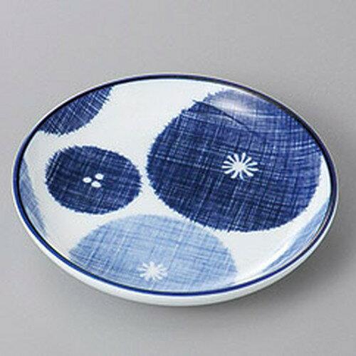 10個セット ☆ 銘々皿 ☆藍花13cm丸皿 [ 13 x 2.2cm ]