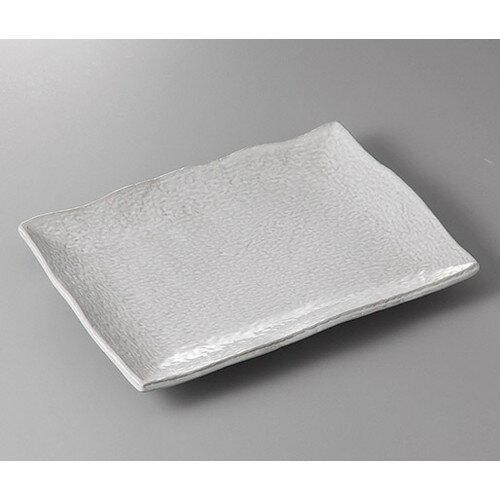 3個セット☆ 萬古焼盛皿 ☆赤土白釉10号長角皿 [ 31.5 x 21.5 x 3.5cm ] 【 料亭 旅館 和食器 飲食店 業務用 】
