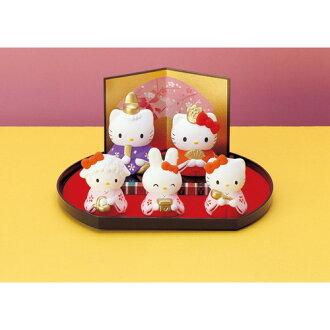 設置娃娃女孩可愛 Hello Kitty 娃娃和女兒節希娜飾品禮品