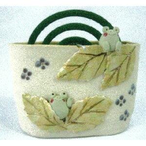 蚊遣器奈の花窯かえる蚊やり器[13.5x5.5x10.5cm]陶器【納涼インテリアかわいい涼しい夏】