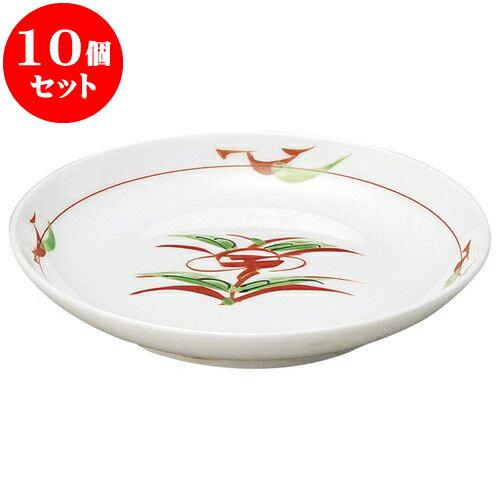 10個セット 和陶オープン 赤絵京風小花 丸3.5皿 [ 12.2 x 2.2cm ] 料亭 旅館 和食器 飲食店 業務用