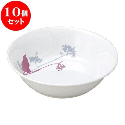 10個セット 和陶オープン ブランチ (桃)13cm丸深皿 [ 12.8 x 3.6cm ] 料亭 旅館 和食器 飲食店 業務用