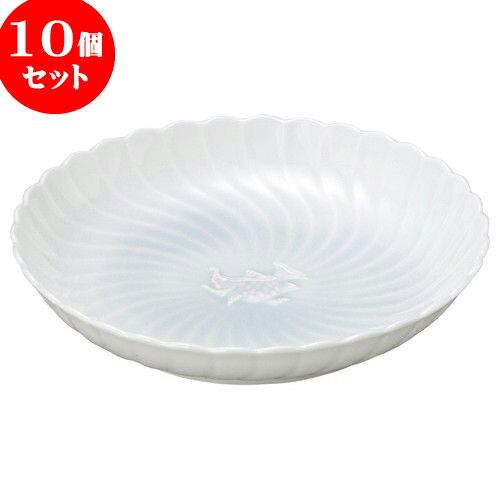 10個セット 和陶オープン 青白磁 8.0大皿 [ 24 x 4.5cm ] 料亭 旅館 和食器 飲食店 業務用:せともの本舗