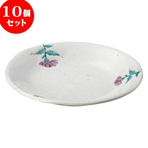 10個セット 和陶オープン 手描きあざみ 6.0皿 [ 19 x 2.5cm ] 料亭 旅館 和食器 飲食店 業務用