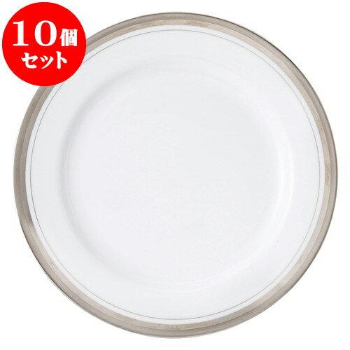 10個セット 洋陶オープン シルバーリッチ 9吋ミート皿 [ 23.2cm ] 料亭 旅館 和食器 飲食店 業務用