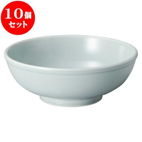 10個セット 中華オープン 青磁 8.0玉丼 [ 25.4 x 9.2cm ] 料亭 旅館 和食器 飲食店 業務用