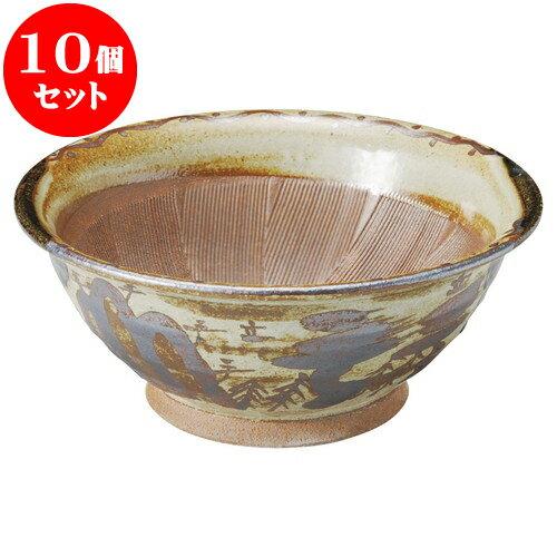 10個セット すり鉢 オリベ山水9寸スリ鉢 [ 28 x 12cm ] 料亭 旅館 和食器 飲食店 業務用:せともの本舗
