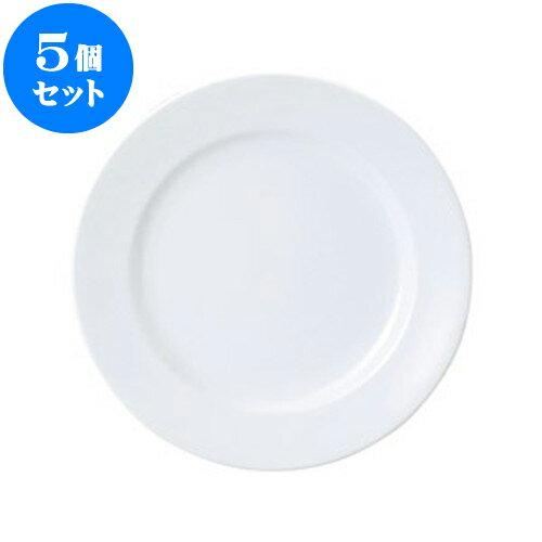 5個セット 洋陶オープン UDEウルトラホワイト 10 3/4吋ミート [ 27 x 2.6cm ] 料亭 旅館 和食器 飲食店 業務用