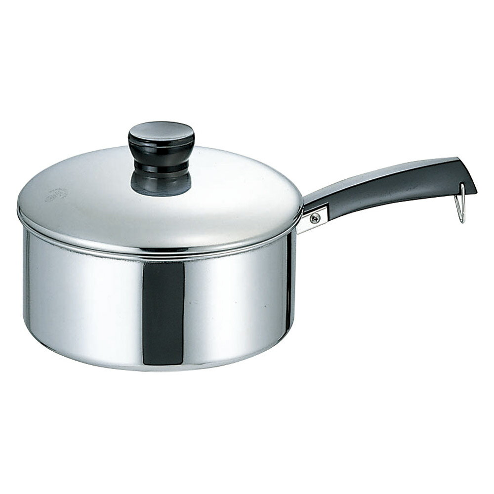 10個セット 厨房用品 18-0ソースパン(片手鍋) [ 22cm ] 料亭 旅館 和食器 飲食店 業務用