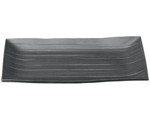 10個セット 和陶オープン こよみ 黒長角皿(大) [ 34 x 22 x 2.5cm ] 料亭 旅館 和食器 飲食店 業務用