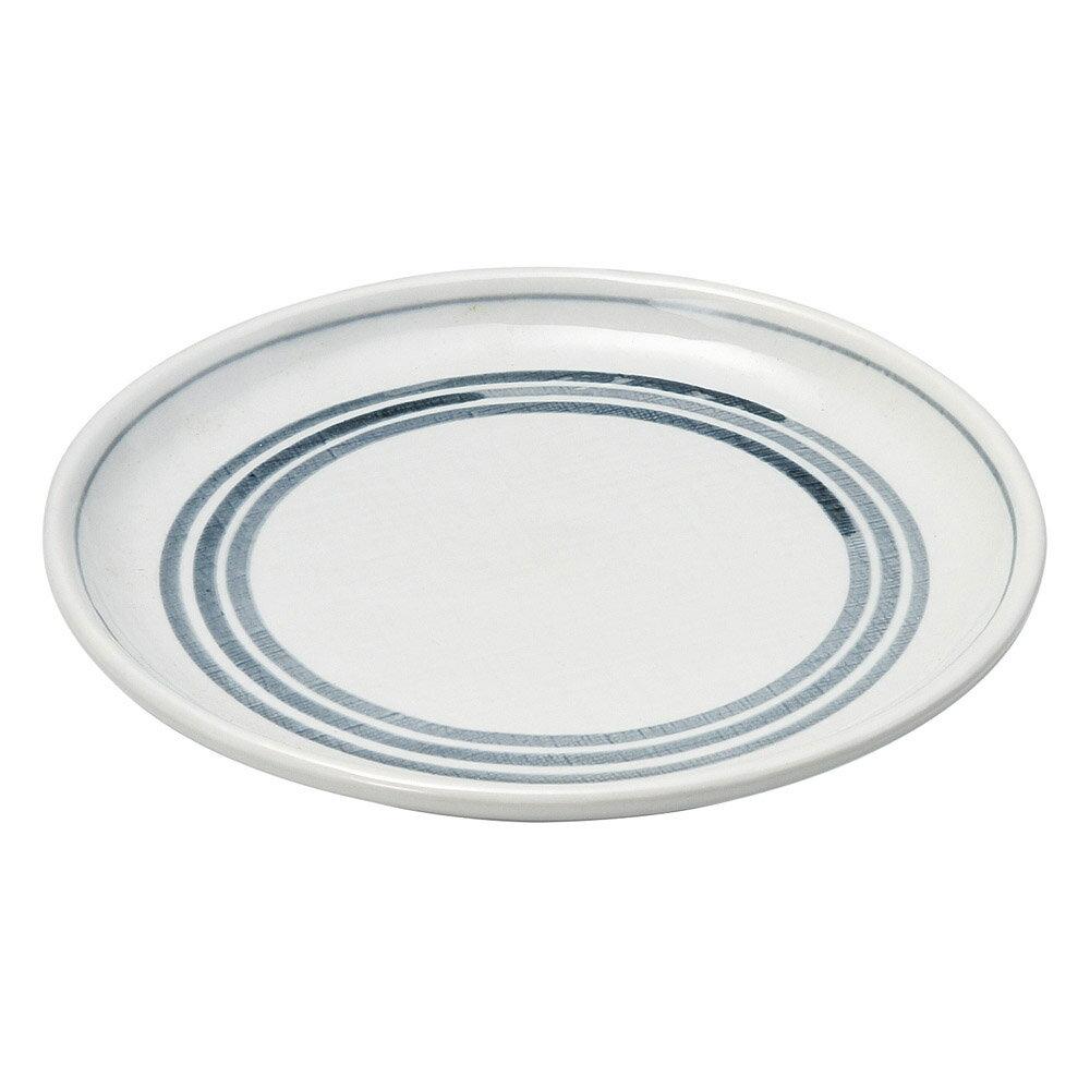 10個セット 和陶オープン 三本線 8.0丸皿 [ 24 x 1.5cm ] 料亭 旅館 和食器 飲食店 業務用
