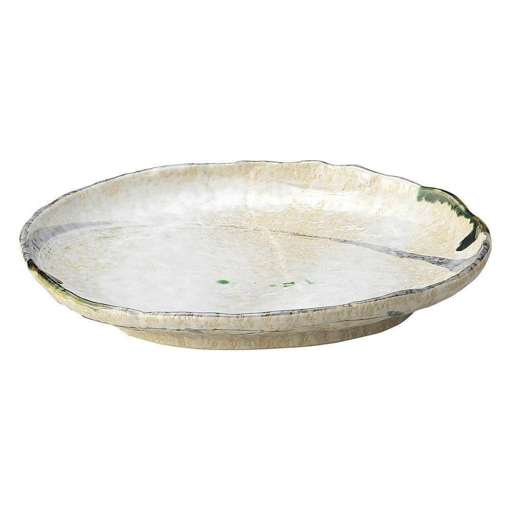 5個セット 和陶オープン 織部流線 10号丸変形皿 [ 29.5 x 24.5 x 4.5cm ] 料亭 旅館 和食器 飲食店 業務用