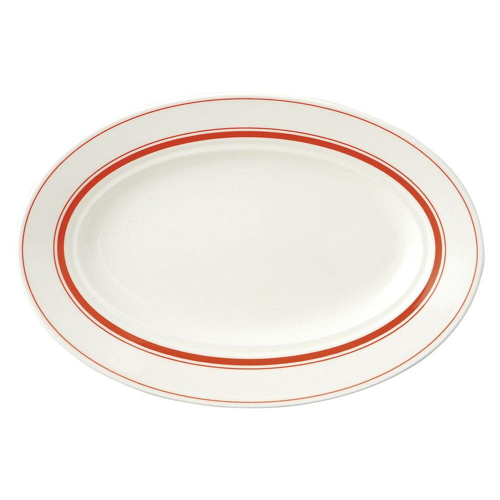 10個セット 洋陶オープン カントリーオレンジ 26.5cmプラター [ 26.5 x 18.2 x 3.4cm ] 料亭 旅館 和食器 飲食店 業務用