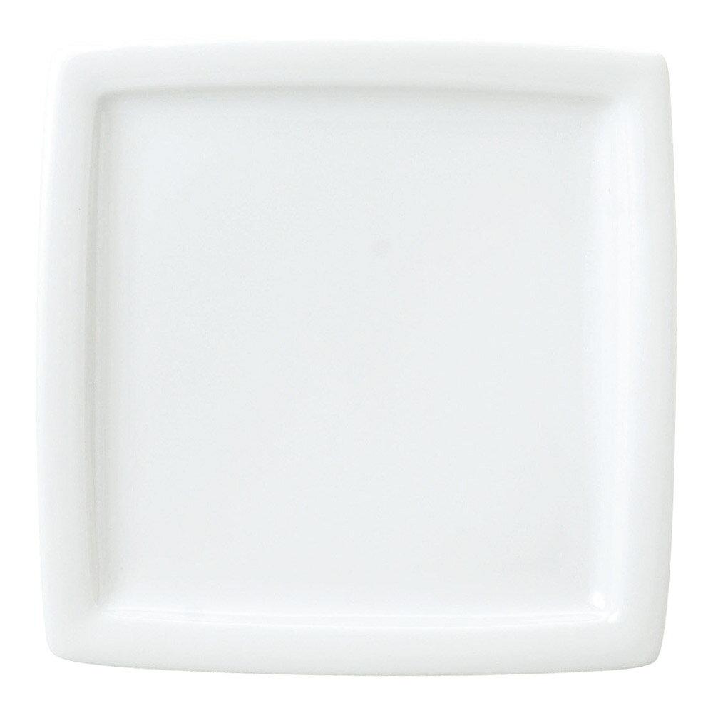 5個セット 洋陶オープン レーラホワイト 21cm正角皿 [ 21 x 21 x 2.5cm ] 料亭 旅館 和食器 飲食店 業務用