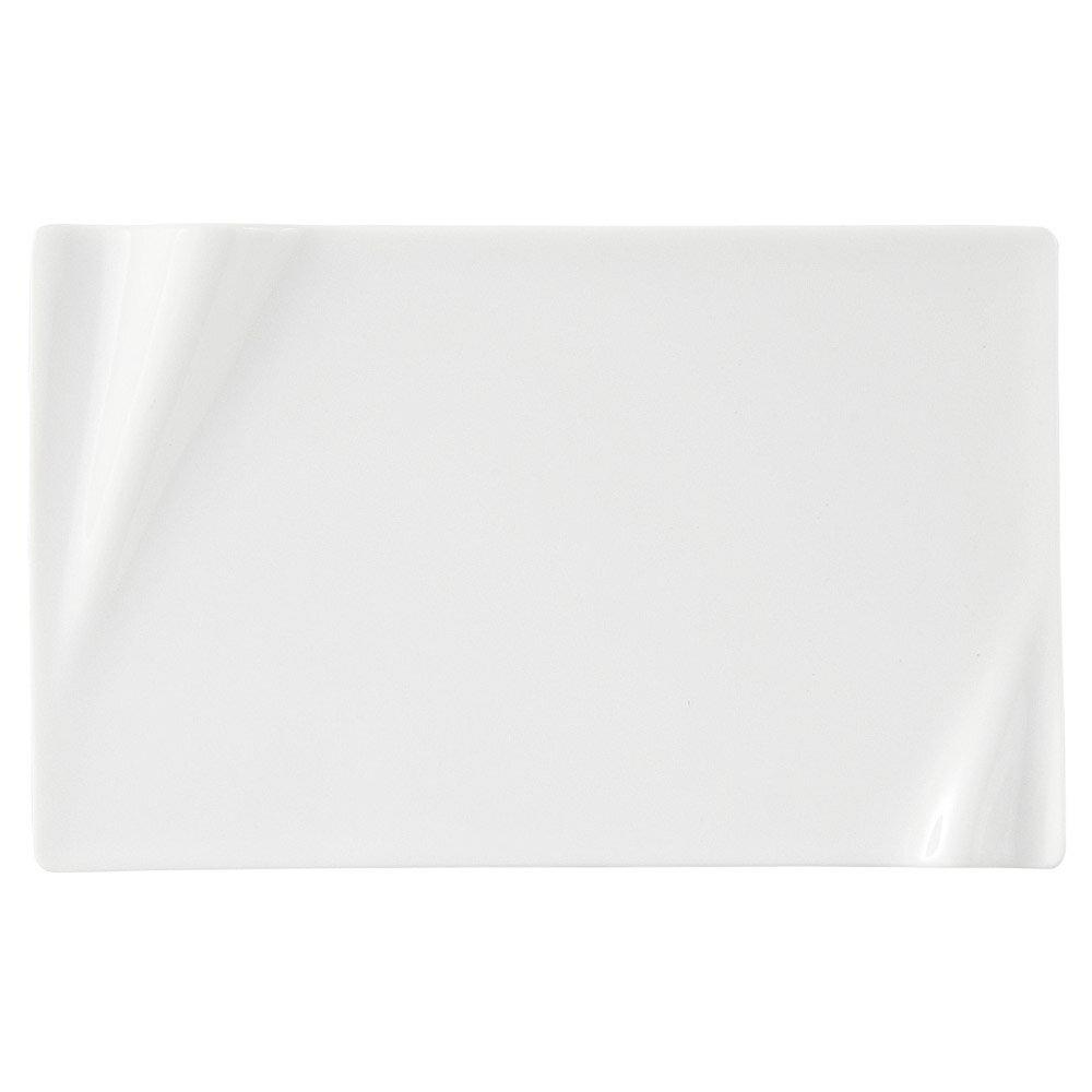 10個セット 洋陶オープン 海皇(かいこう) 白24cm長角プレート [ 24 x 14.9 x 2cm ] 料亭 旅館 和食器 飲食店 業務用
