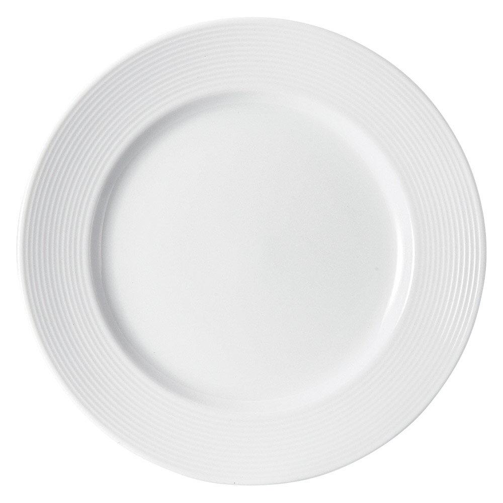 10個セット 洋陶オープン アローネ(白磁) 26cmプレート [ 25.6 x 2.7cm ] 料亭 旅館 和食器 飲食店 業務用