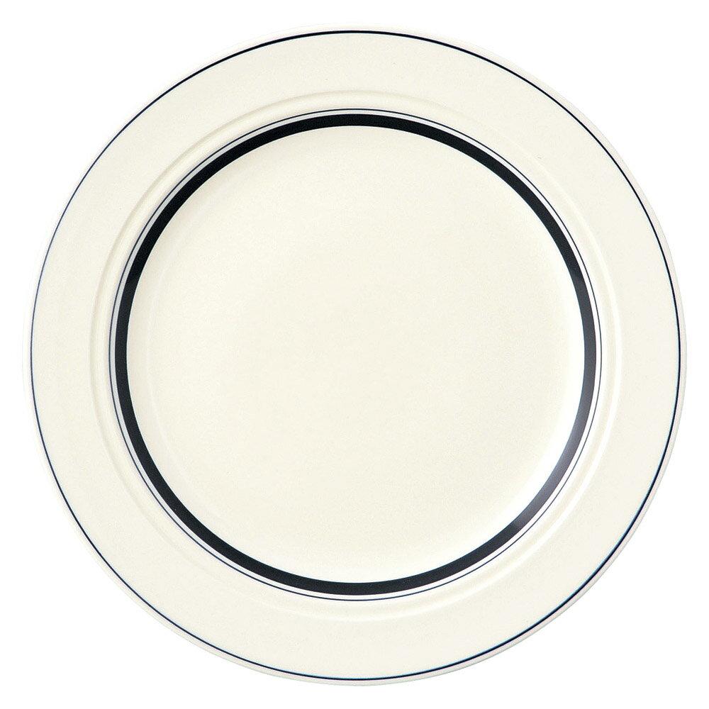 10個セット 洋陶オープン ネイビーボーダー 27cmディナー [ 27.2 x 2.7cm ] 料亭 旅館 和食器 飲食店 業務用
