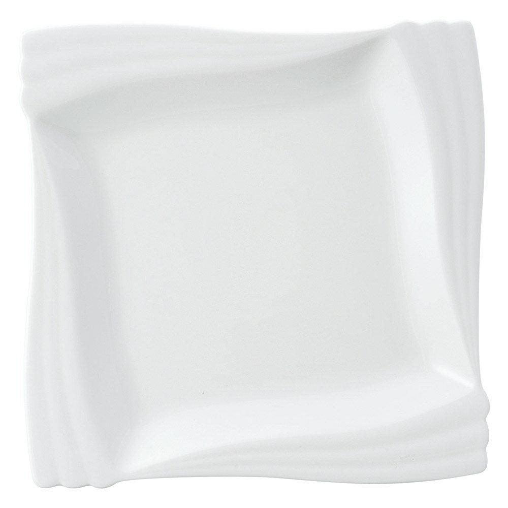 10個セット 洋陶オープン エクセラホワイト エンゼル四方角皿(大) [ 24.5 x 24.5 x 2.5cm ] 料亭 旅館 和食器 飲食店 業務用