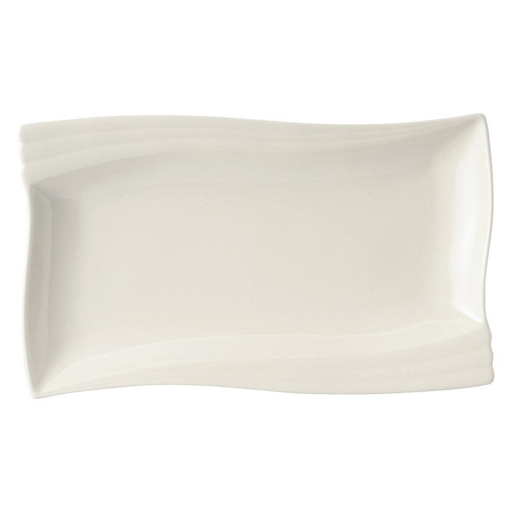 10個セット 洋陶オープン エクセラホワイト ウェーブ長角皿 大 [ 30.5 x 18 x 3cm ] 料亭 旅館 和食器 飲食店 業務用