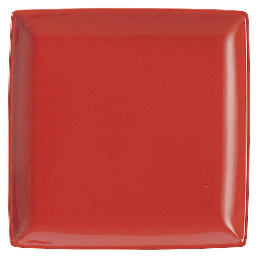 10個セット 洋陶オープン ブランシェ 赤 スクエアー22皿 [ 21.8 x 21.8 x 2.5cm ] 料亭 旅館 和食器 飲食店 業務用