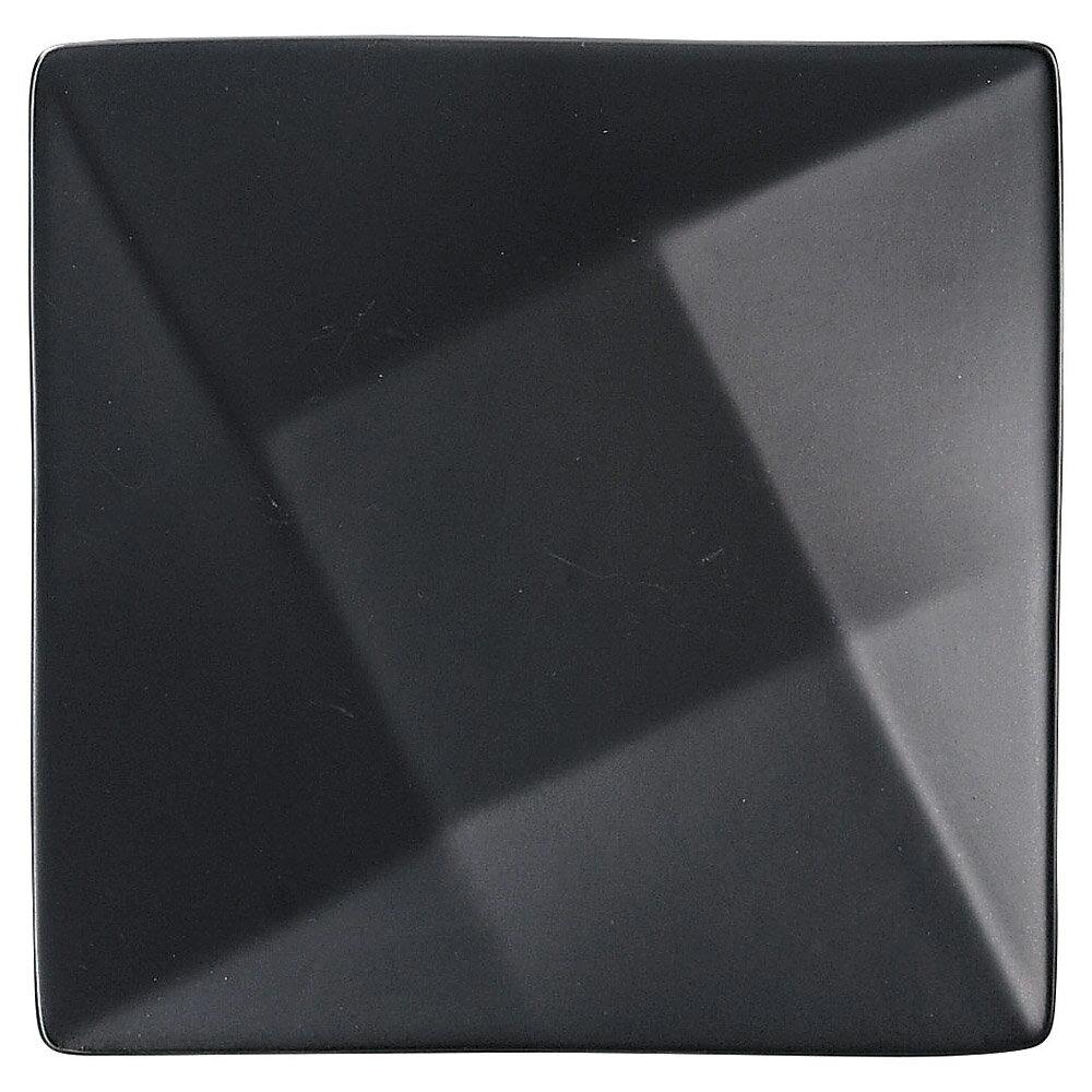 10個セット 洋陶オープン Blackfairy フォルドプレート(小・黒) [ 21 x 21 x 3.5cm ] 料亭 旅館 和食器 飲食店 業務用