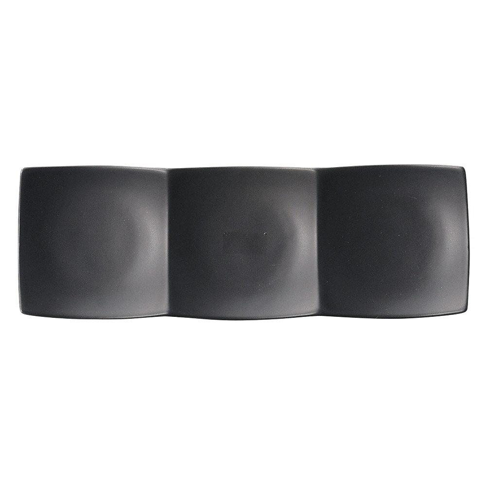 10個セット 洋陶オープン Blackfairy スリーインディッシュ(小・黒) [ 30.5 x 10.5 x 3cm ] 料亭 旅館 和食器 飲食店 業務用