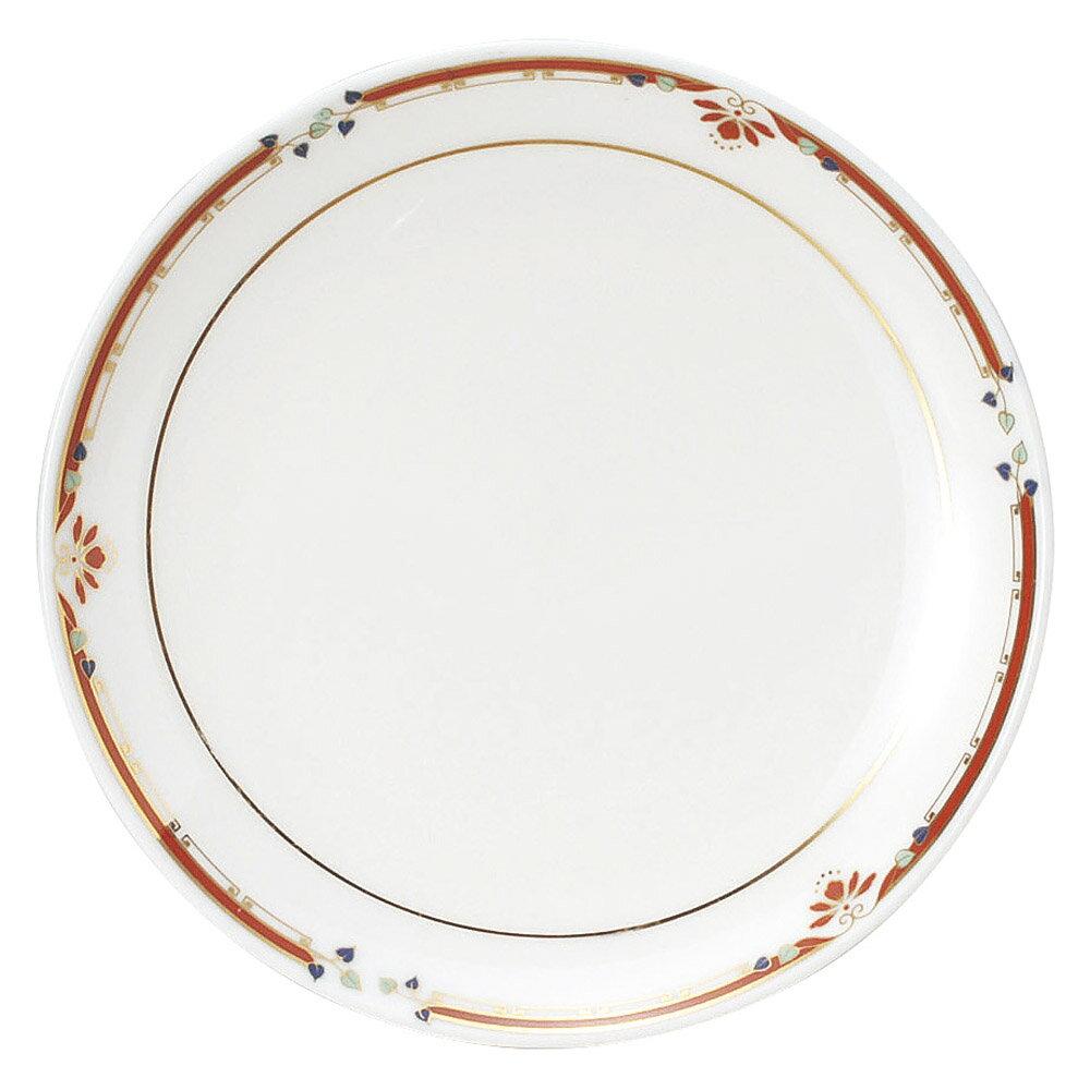 10個セット 中華オープン ニューボン紅華妃 7 1/2吋丸皿 [ 19 x 2.2cm ] 料亭 旅館 和食器 飲食店 業務用