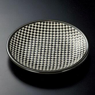 圓的盤子雷地編織管理8.5寸平盤子[26.8 x 3.8cm][酒家旅館日式餐具飲食店業務用]