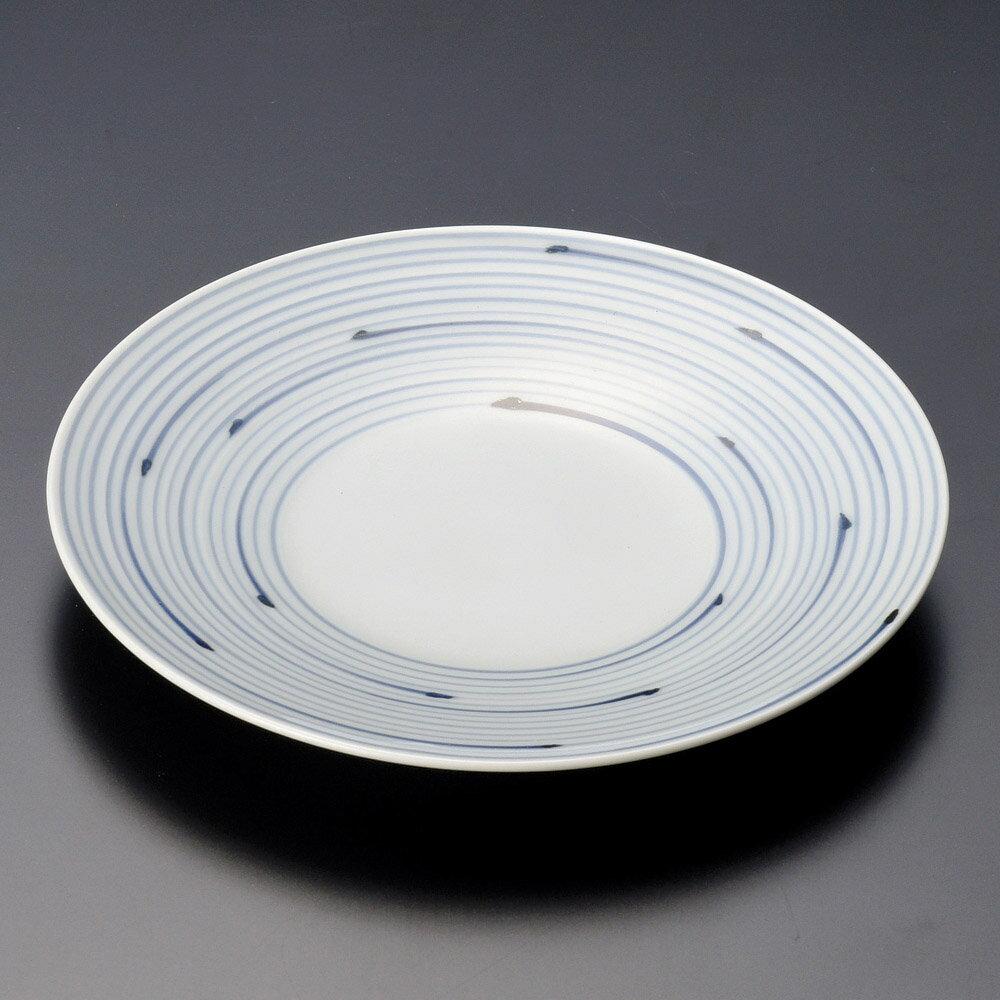 10個セット 有田焼逸品 うなぎ線 5寸皿(有田焼) [ 15.5 x 2cm ] 料亭 旅館 和食器 飲食店 業務用