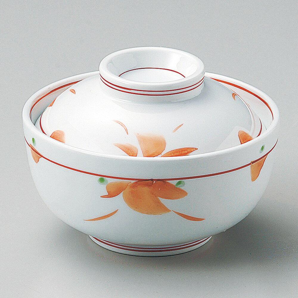 ☆ 円菓子碗 ☆ 赤絵小花円菓子碗 [ φ11.8 x 8.2cm ]
