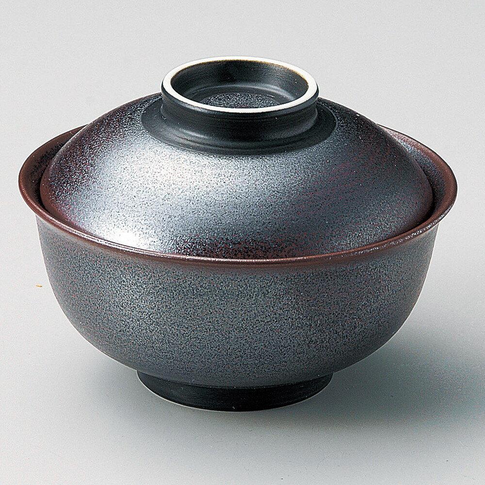☆ 円菓子碗 ☆ 鉄砂反型円菓子碗(大) [ φ13 x 8.5cm ]