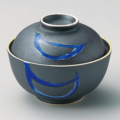 ☆ 円菓子碗 ☆ 黒釉ルリ流し円菓子碗 [ φ11.4 x 9cm ]