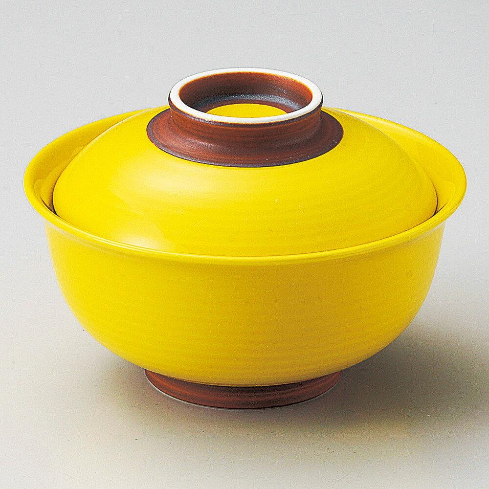☆ 円菓子碗 ☆ イエロー反円菓子碗(小)内白 [ φ11 x 8cm ]