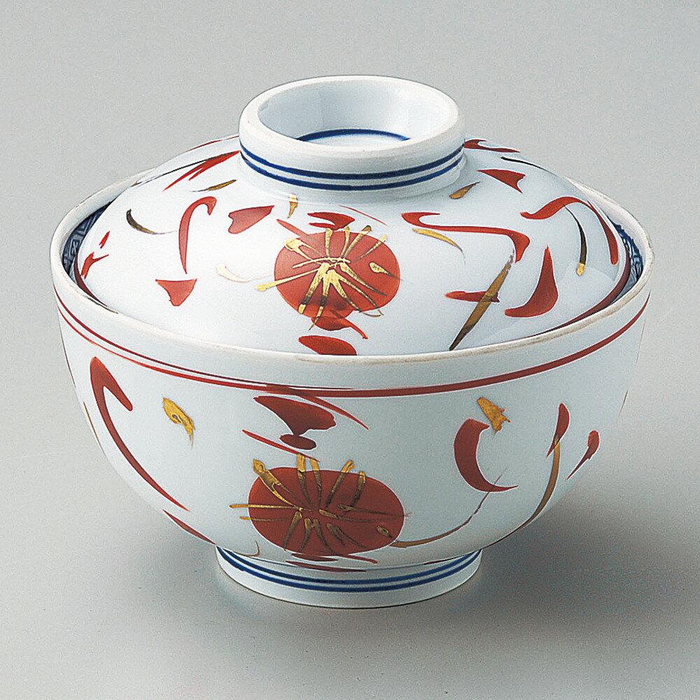 ☆ 円菓子碗 ☆ 手描赤絵菊円菓子碗 [ φ12 x 9.5cm ]