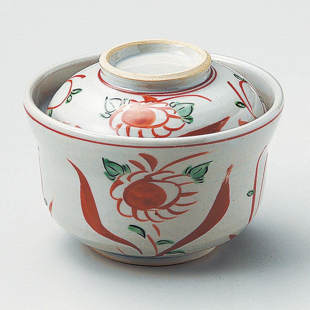 ☆ 円菓子碗 ☆ 赤絵花鳥円菓子碗 [ φ12 x 9cm ]